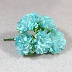 flowers, blue, 9cm x 3.5cm x 2cm, 10 flowers, (DZH006)